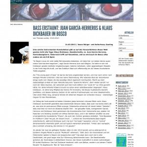 Bass erstaunt: Juan García-Herreros & Klaus Dickbauer im bosco